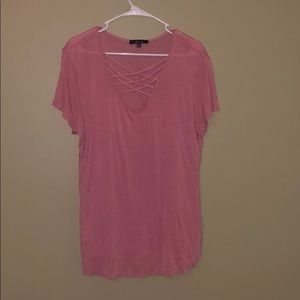 Dark Pink Fitted Tee